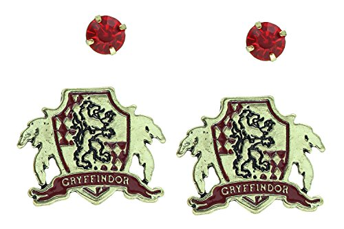 [Harry Potter Gryffindor House Crest Stud Earring Set] (Ron And Hermione Costumes)