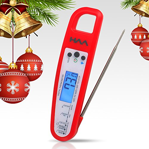 VVH Instant Read Digital Meat Thermometer, Best Wireless Food Probe for Cooking - BBQ, Candy, Charcoal Grill, Smoker for Accurate Internal Temperature (2 Compartment Deep Fryer compare prices)