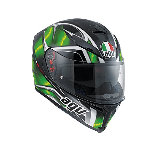 AGV J0041A2F0010MS Casco K-5 E2205 Multi, Multicolore (Hurricane Nero/Verde/Bianco), MS