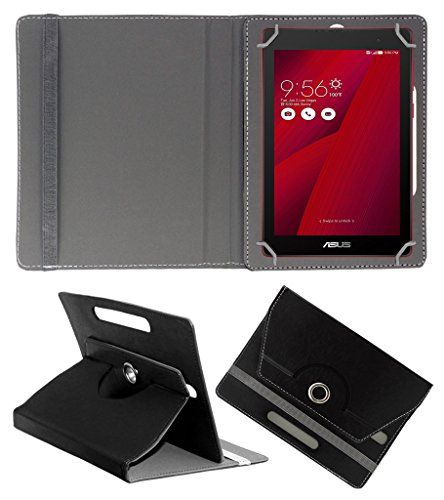 Acm Rotating 360° Leather Flip Case For Asus Zenpad C 7.0 Z170cg Cover Stand Black  available at amazon for Rs.149