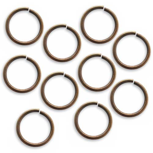 Vintaj Natural Brass Open Jump Rings 15mm Heavy 15 Gauge (10)