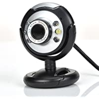 SODIAL R New USB 80.0M 6 LED Webcam Camera 80MP Web Cam With Mic For Desktop PC Laptop