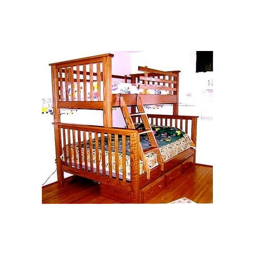Mission Bunk Bed Twin Top Full Bottom Bw Mbft