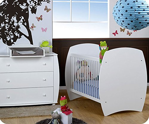 Mini Babyzimmer Medea weiß mit Wickelfläche