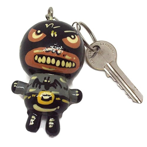 Agility Batman Doll Wood Funny Handmade Key Chain, Key Ring Art Paint