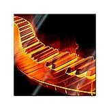Bilderdepot24-Glasbild-Keyboard-on-Fire