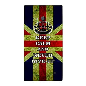 Skin4gadgets Keep Calm and NEVER GIVE UP - Colour -UK Flag Phone Skin for NOKIA LUMIA 730 (ONLY BACK)