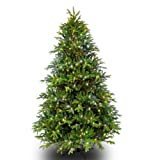 9 ft. x 54 in. – Slim Alaskan Deluxe Fir – 4047 Realistic Molded Tips – 750 Clear Mini Lights – Barcana Artificial Christmas Tree