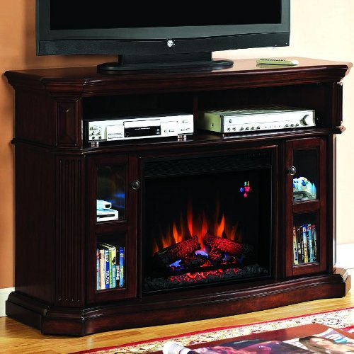 Classicflame 23mm1297-c259 Advantage Aberdeen Electric Fireplace With Media Console - Cocoa Cherry picture B005T08U4Y.jpg