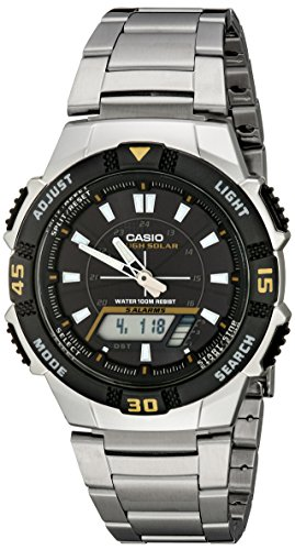 Casio Men's AQS800WD-1EV Slim Solar Multi-Function Analog-Di