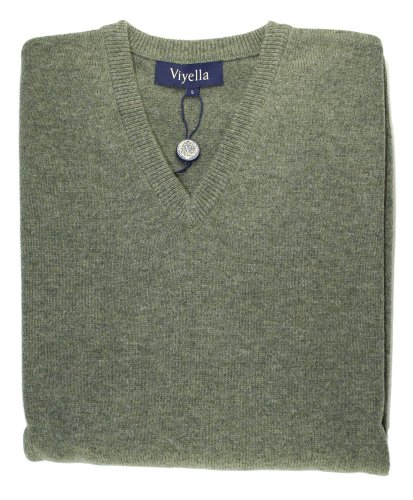 Viyella Mens Blue Lambswool V Neck Jumper XL