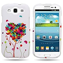 buy Hard Slim Snap-On Case Plastic Butterfly Heart Design Cover For Samsung Galaxy S3 / S Iii By Coveron®