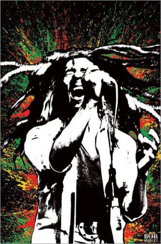 Bob Marley Paint Splash Music Maxi Poster Print - 61x91 cm
