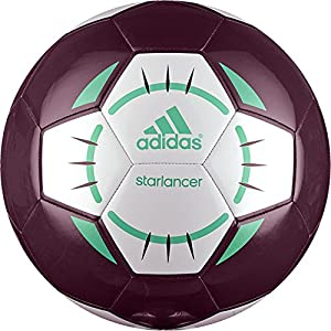 adidas Performance Starlancer IV Soccer Ball, Red/White/Bright Green, Size 5