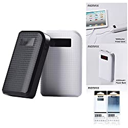 Remax Proda 10000 MAH Power Bank - White, 2 USB Port, Intelligent sensor, LCD display, Genuine Power