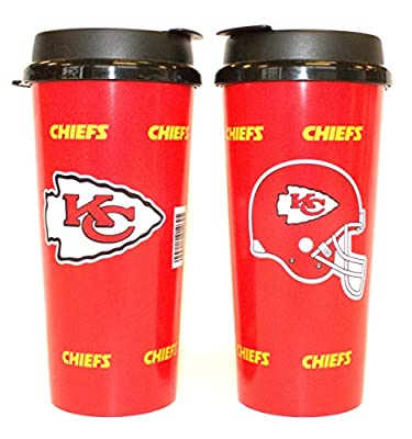 NFL Officially Licensed Kansas City Chiefs 16 Oz Insulated Coffee Travel Tumbler Mug Cup