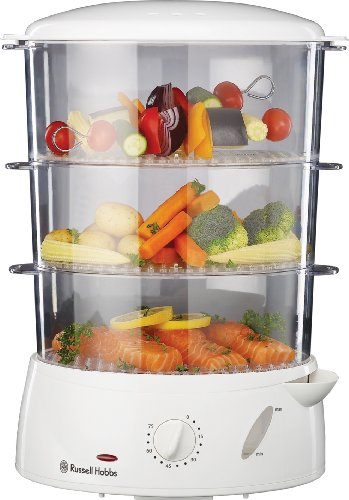 Russell Hobbs 15071  9 L  3-Tier White Food Steamer
