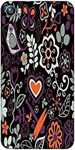 Snoogg colorful floral seamless pattern in cartoon style seamless pattern Designer Protective Back Case Cover For Micromax Canvas Fire 4 A107