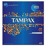 Tampax Super Plus Cardboard Applicator Tampons, 48 Tampons