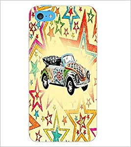 PrintDhaba Car D-5600 Back Case Cover for APPLE IPHONE 5C (Multi-Coloured)