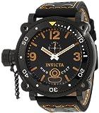 Invicta Men's 7271 Signature Black Dial Black Leather Watch