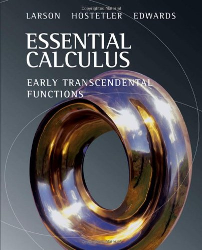 Essential Calculus: Early Transcendental Functions (Available 2010 Titles Enhanced Web Assign)