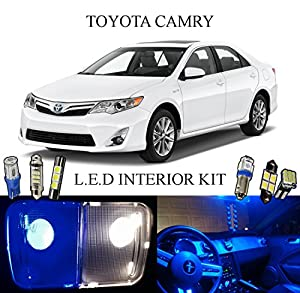 2014 Toyota Camry Ultra Blue Led Interior Package Vanity Lights 10 Pieces