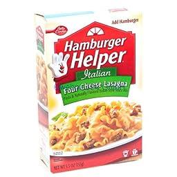 Hamburger Helper Four Cheese Lasagna Pasta & Sauce Mix 5.5 oz