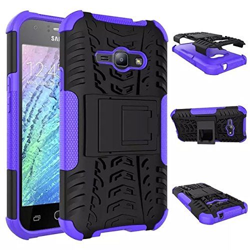 Galaxy J1 Ace Case , IVSO Samsung Galaxy J1 Ace High Quality Hybrid KickStand Case for Samsung Galaxy J1 Ace J110M 2015 Release Smartphone. (Purple) (Galaxy Ace Kickstand Cases compare prices)