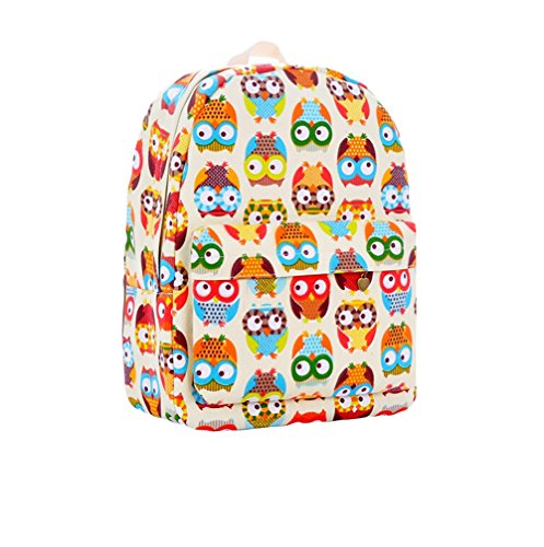 Demarkt-Multicolor-Printing-Owls-Shoulder-Bag-Student-Backpack-School-Bag-Rucksack