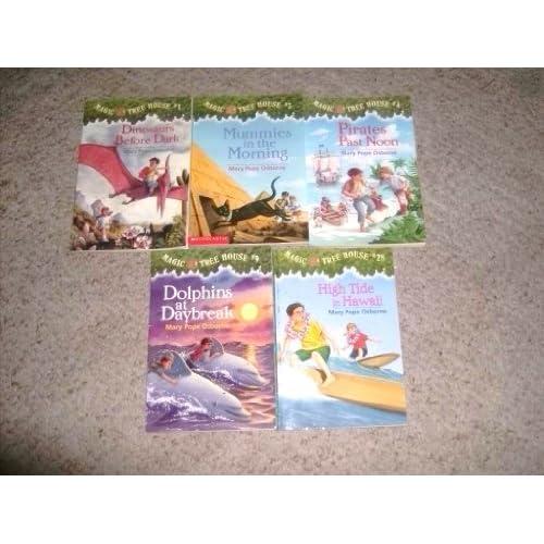 Magic Tree House Books Lot Of 5 Books Dinosaurs Before Dark 1