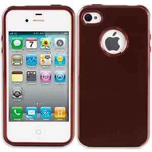 PrimaCase - Choco - TPU Silikon Case für Apple iPhone 4 / 4S