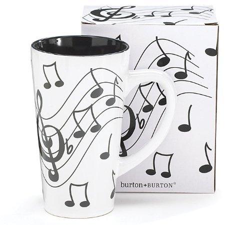 Musical Note Jazz Ceramic Coffee/Tea Travel Mug - 16 Oz