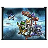 Star Fox Game Fabric Wall Art Poster