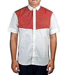 Riverbero Men's Casual Shirt (SN_DHS_215_White_40)