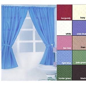 Carnation Home Fashions Lauren Dobby Fabric Bathroom Window Curtain 34 Inch By 54