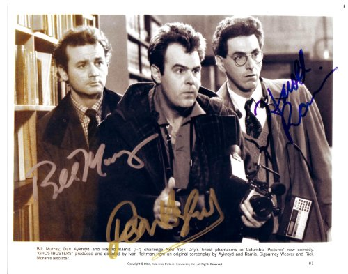 Ghostbusters Cast Signed Autographed 8 X 10 RP Photo - Mint Condition