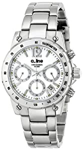 a_line Women's AL-80020-22MOP Liebe Chronograph White Dial Stainless Steel Watch