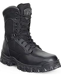 Rocky Men\'s Alphaforce Waterproof Zipper Composite Toe Duty Boot Black 4.5 D(M) US