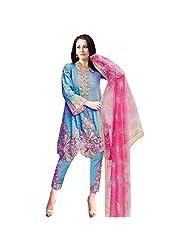 Fabefy Sky Blue Lawn Cotton Pakistani Salwar Kameez