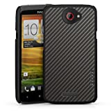 HTC One X / X+ Case Cover Shell Hard Case black - Cool Carbon Look