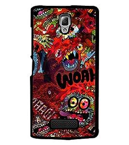PrintDhaba Graffiti D-3844 Back Case Cover for LENOVO A2010 (Multi-Coloured)