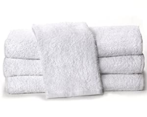 "Towels by Doctor Joe White 15"" x 25"" China Soaker, Pack of 12"