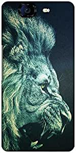 Snoogg Lion Fury Designer Protective Back Case Cover For Micromax Canvas Knight A350