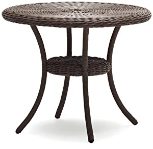 Wicker patio tables on sale home decor and furniture deals - Table ronde en resine tressee ...