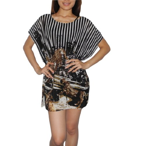 Womens Thai Exotic Fashion Cute Flutter Sleeves Blouse Top - Size: L