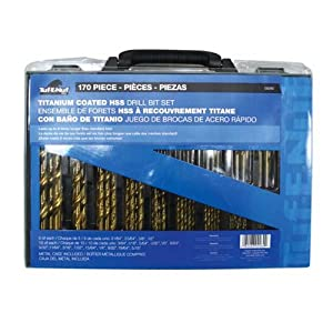 Task Tools 09260 170-Piece Tuf-E-Nuf Titanium-Coated HSS Drill Bit Set with Case at Sears.com