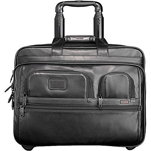 (トゥミ) Tumi メンズ パソコンバッグ キャリーバッグ Alpha Leather Deluxe Wheeled Leather Brief with Laptop Case 並行輸入品