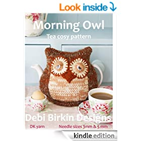 Owl tea cosy knitting pattern