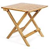 Songmics-Beistelltisch-Klapptisch-aus-Bambus-fr-Balkon-Terrasse-Garten-46-x-46-x-46-cm-GZD46N